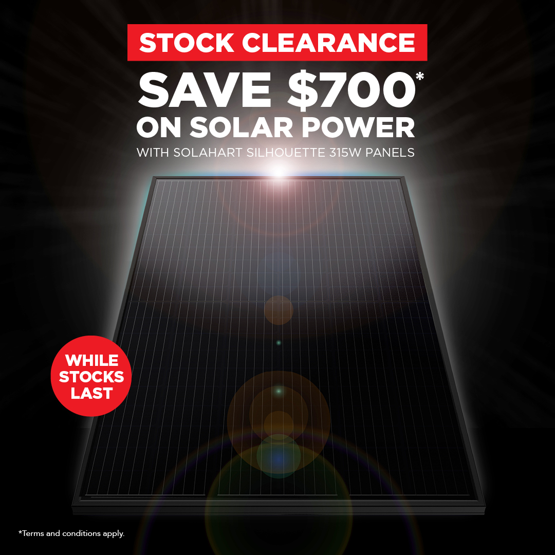 Save $700 now on Solahart solar power systems whilst stock last