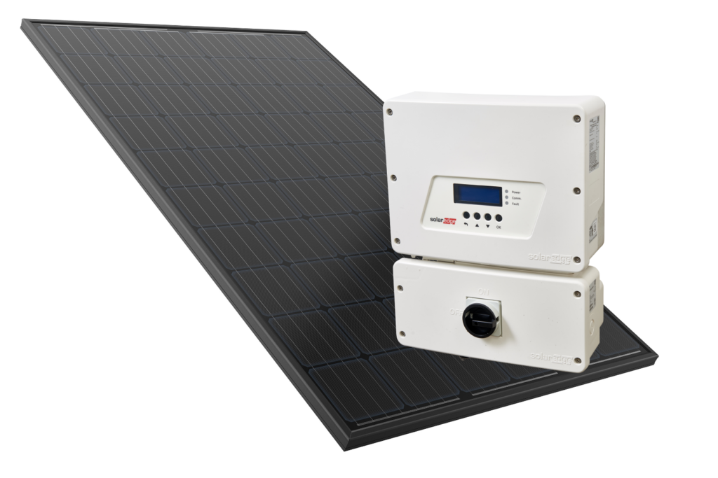 Solahart Silhouette solar panel and SolarEdge inverter - available exclusively from Solahart